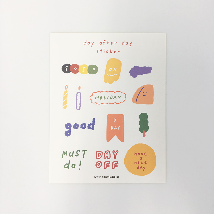 [ppp studio] day after day sticker
