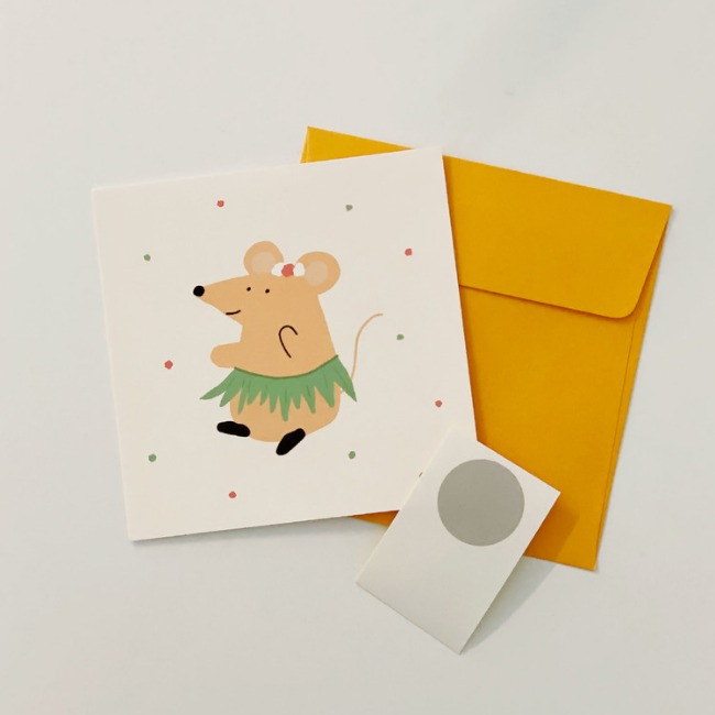 [ppp studio] hula mouse card