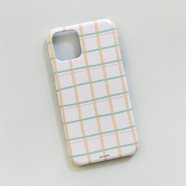 [ppp studio] pastel check case