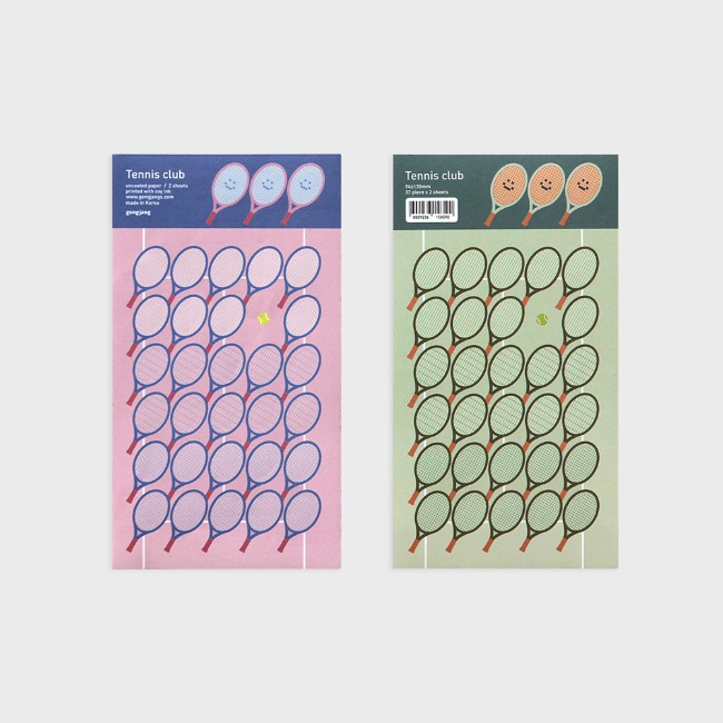 [공장] Tennis club sticker set