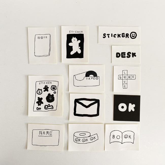 [이나피스퀘어] IN THE BOX STICKER SET_STATIONERY