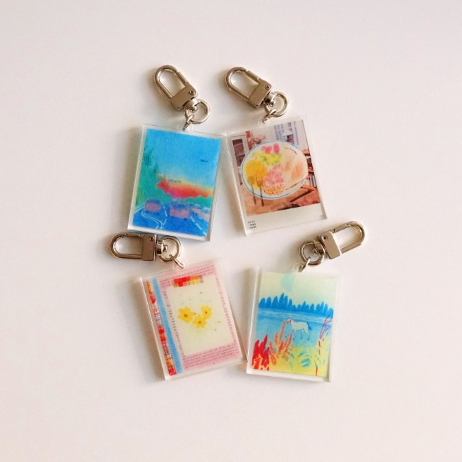 [어레터프롬] Daily drawing key ring