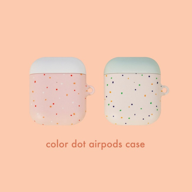 [ppp studio] color dot airpods hard case