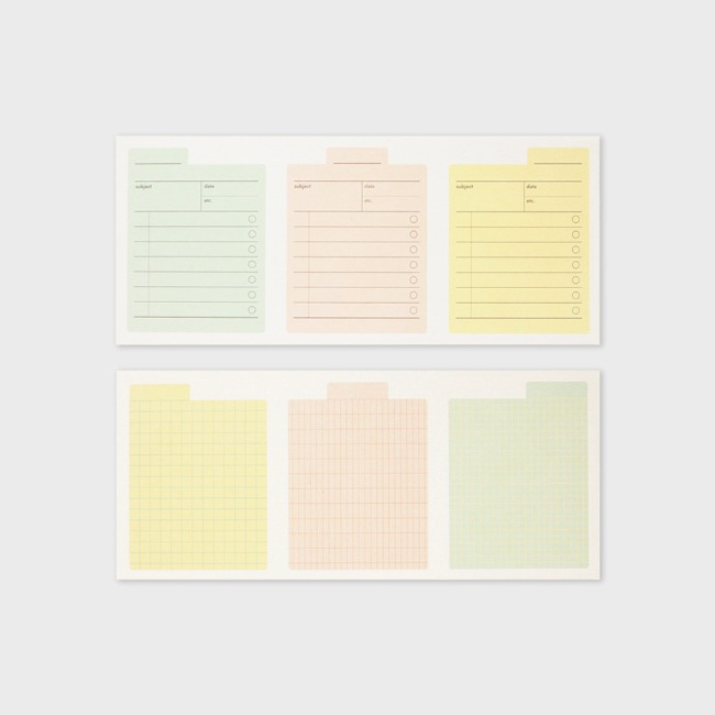 [공장] Archiving memo pad _ check, grid