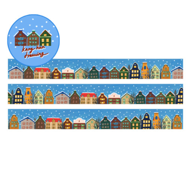 [어레터프롬] Snow winter Masking tape (20mm)