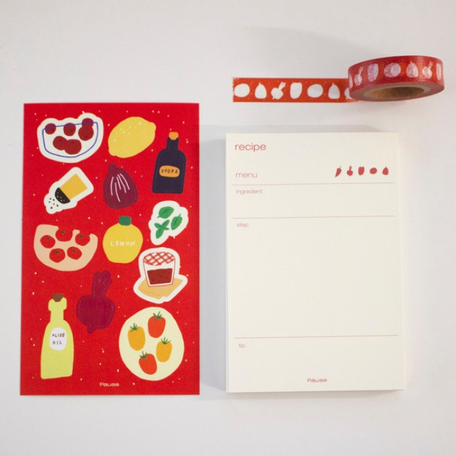 [ppp studio] [pause] Red stationery