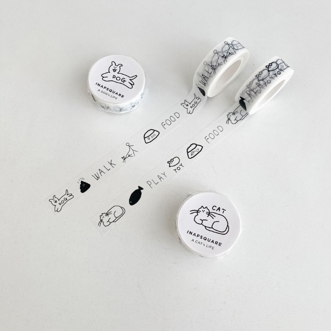 [이나피스퀘어] A DOG's / A CAT's LIFE MASKING TAPE